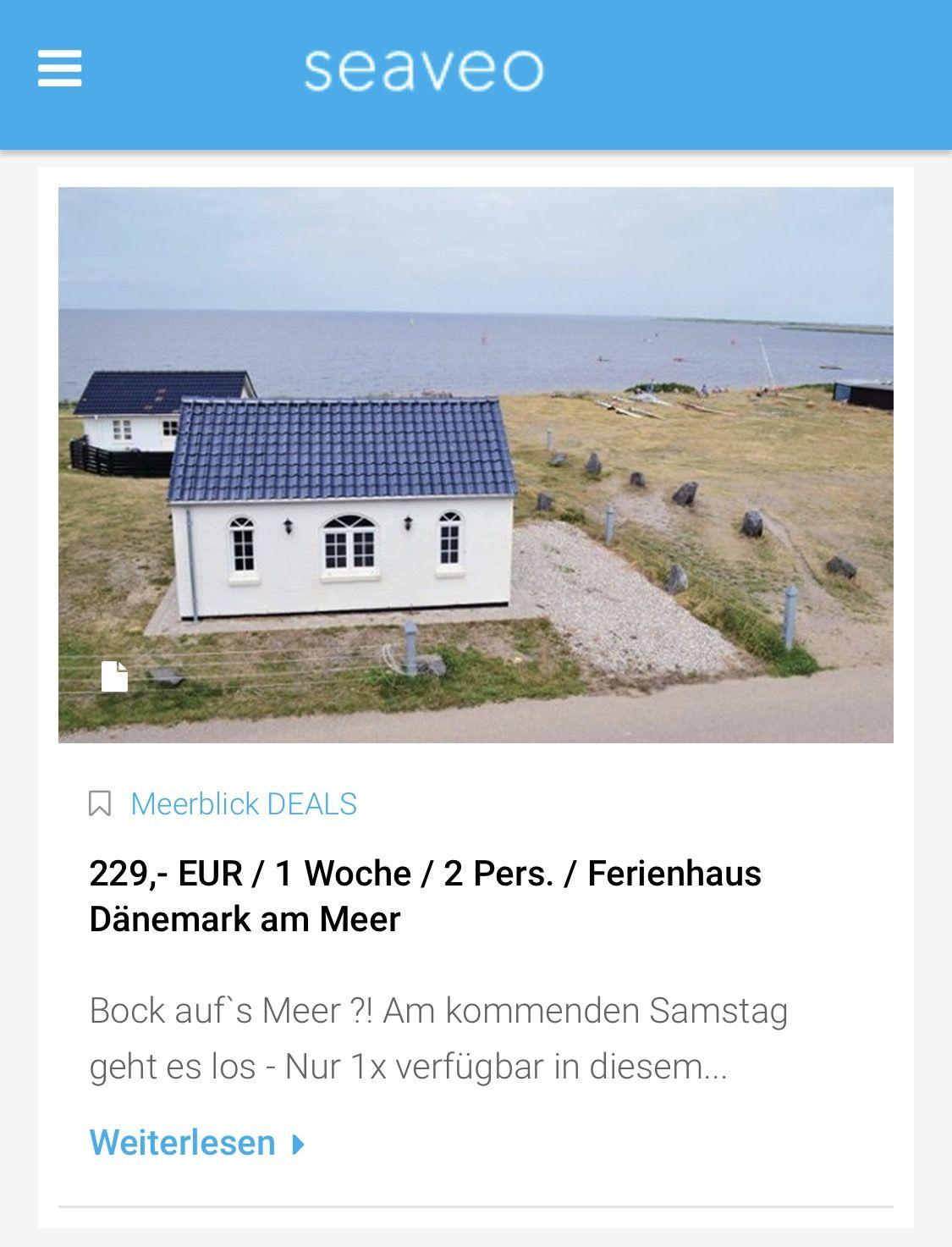 Meerblick Deal 229 Fur 1 Woche Im Ferienhaus Danemark Fur 2 Personen Direkt Am Meer Meerblick Meer Urlaubsrei Ferienhaus Danemark Ferienhaus Ferien