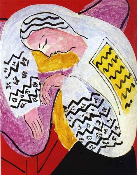 The Dream Henri Matisse Date: 1940 Style: Expressionism Genre: genre painting Location: Private Collection
