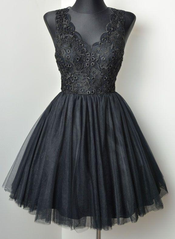fd91b0dd0240a2 Sukienkowo.pl - Koronkowo tiulowa sukienka BABY czarna | Lace ...