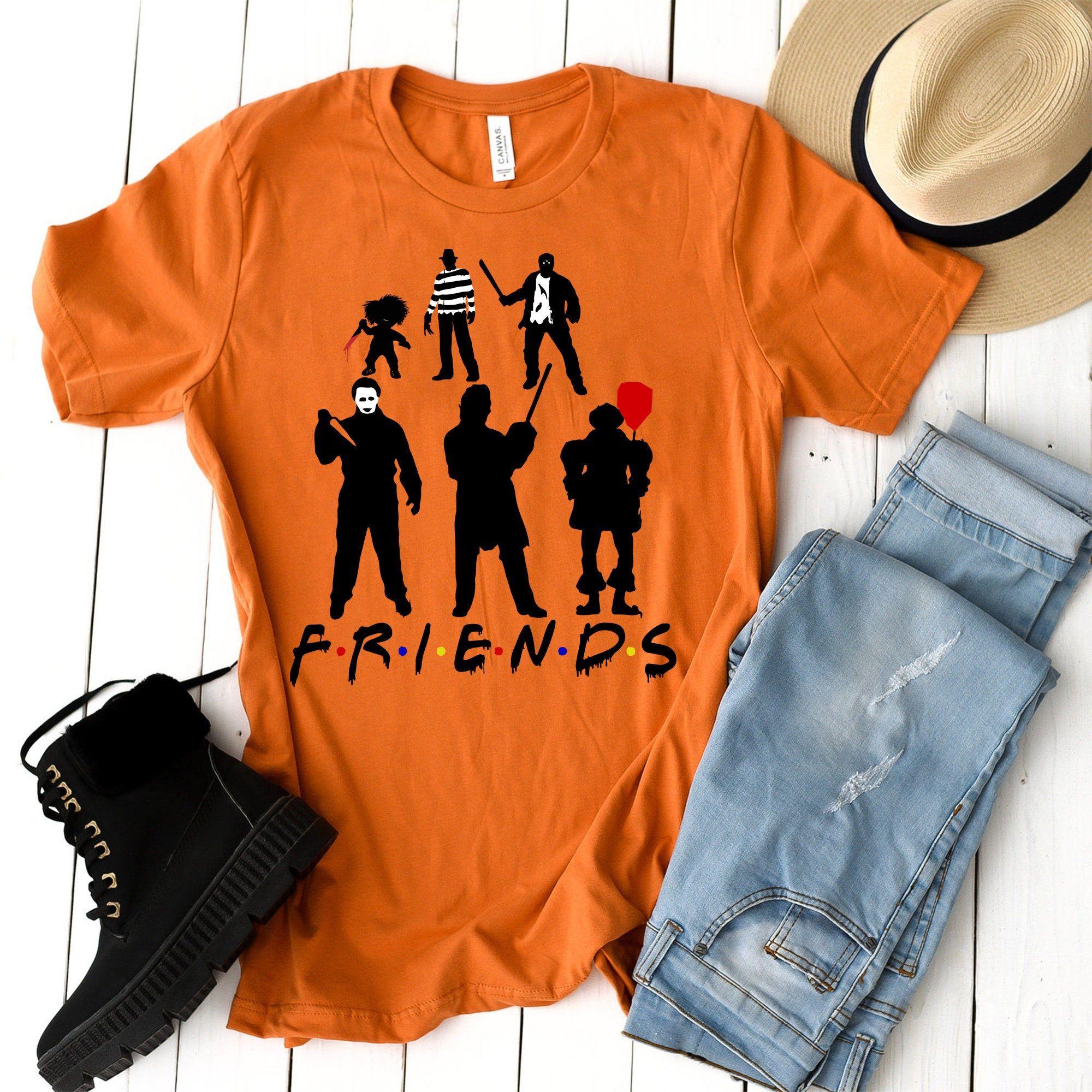 Halloween Friends Horror Shirt, Horror Movie Villain