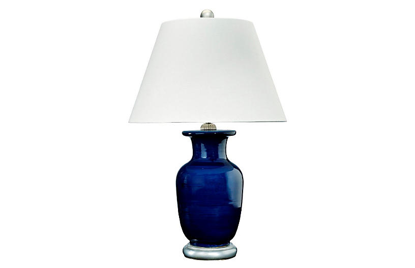 Barclay Butera For Bradburn Home Capitan Table Lamp Navy Silver One Kings Lane In 2020 Lamp Table Lamp Blue Table Lamp
