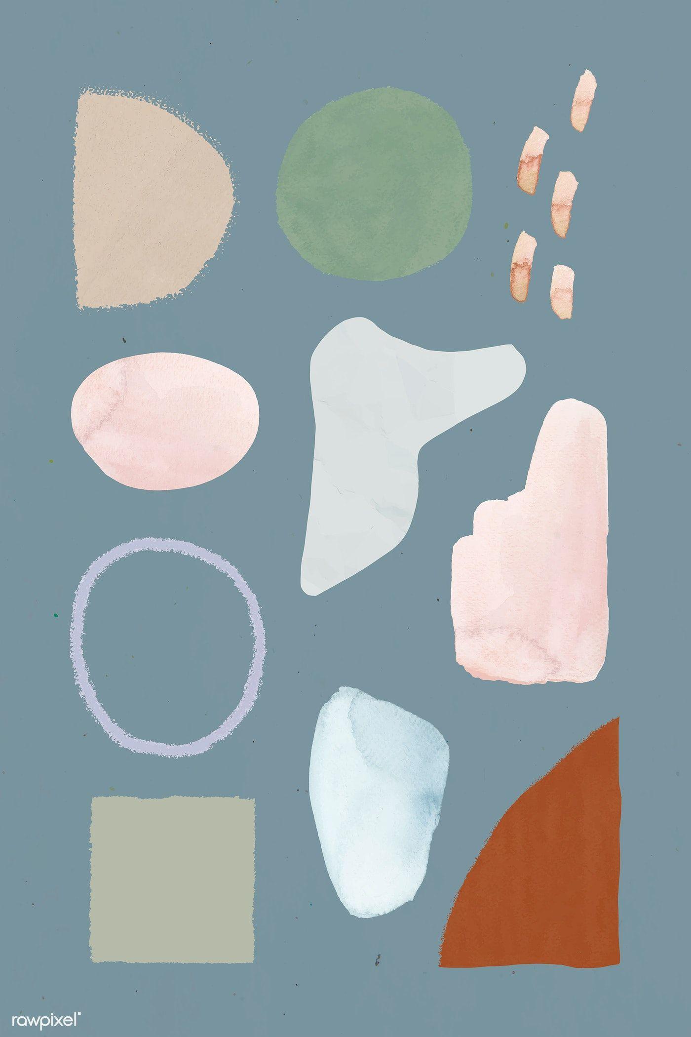 Download premium illustration of Neutral watercolor