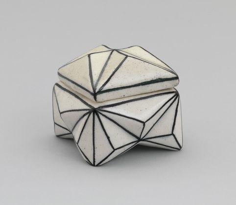 Box Grey Black White Paterrned Modern Ceramic on