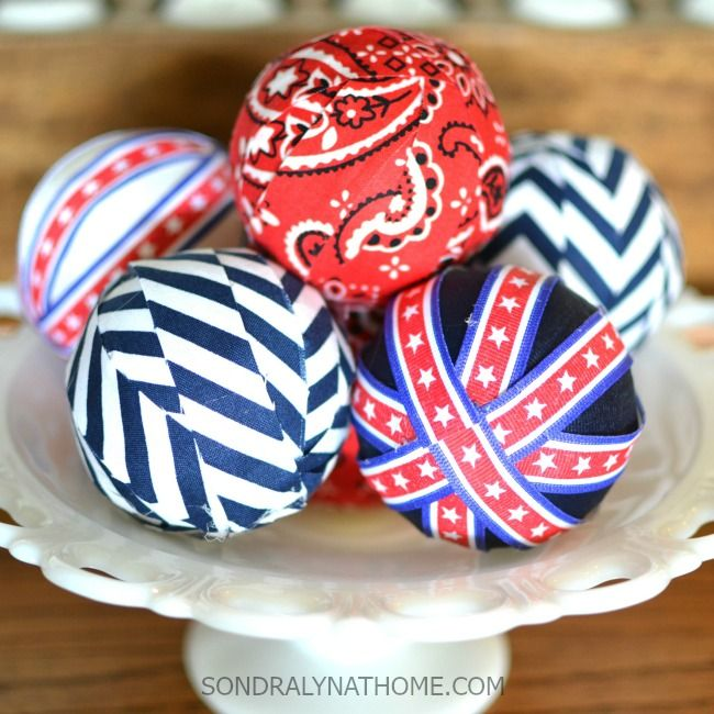 Decorative Bowl Filler Balls Red White Blue Vase Filler Balls  Red White Blue Frugal And Bee