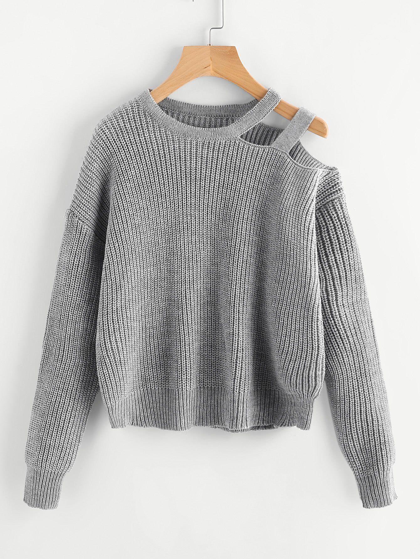 fe81c5c5c6ea Material  100% Acrylic Color  Grey Pattern Type  Plain Neckline  Round Neck  Style  Casual