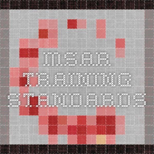 MSAR Training Standards