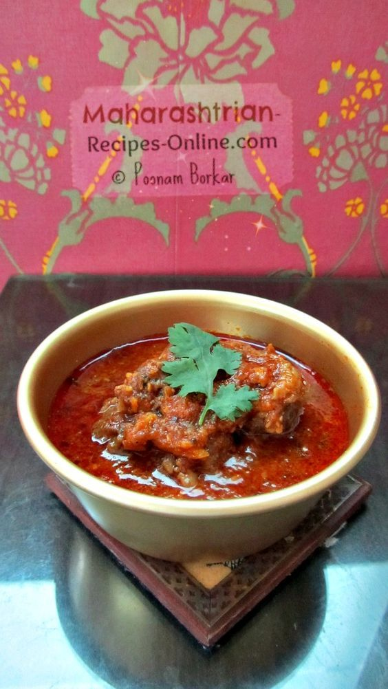 Maharashtrian goat curry mutton curry tambda rassa recipes food forumfinder Images