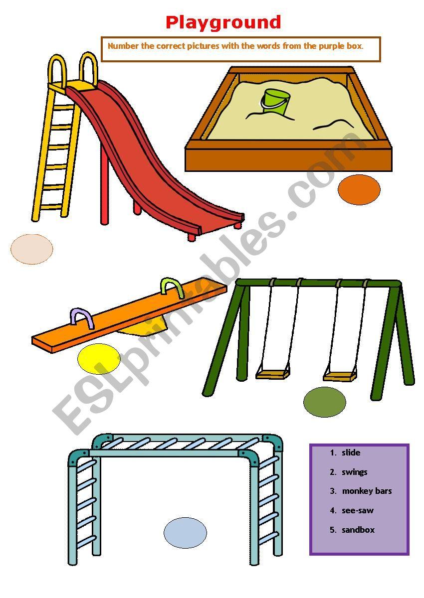 Playground Equipment Esl Worksheet By Heinchina [ 1200 x 850 Pixel ]