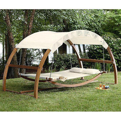 Patio Day Bed Lounge Swing Garden Lawn Yard Pool Outdoor Deck Furniture arch New  sc 1 st  Pinterest : patio swing bed with canopy - memphite.com