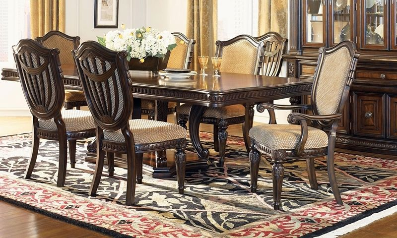 Grand Estates 5 Piece Old World Dining Set Ii Double Pedestal