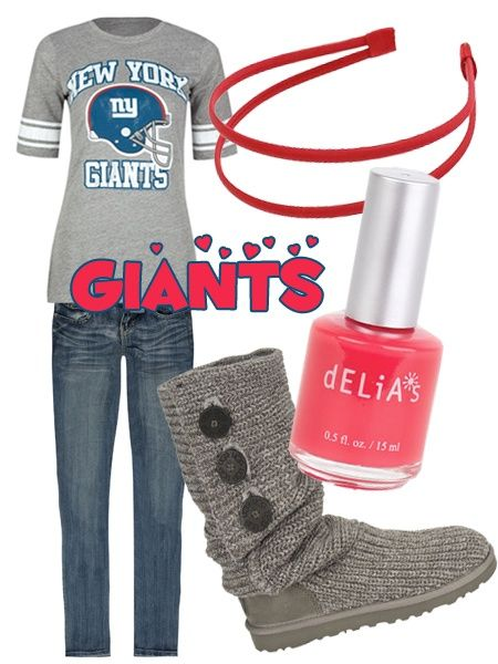 Superbowl Outfit Ideas - Football Fashion - New York Giants  7a74aa9d0