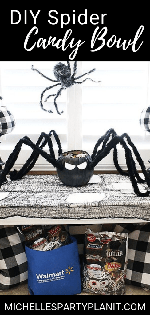 DIY Spider Candy Bowl Pumpkin crafts, Candy bowl, Crafts