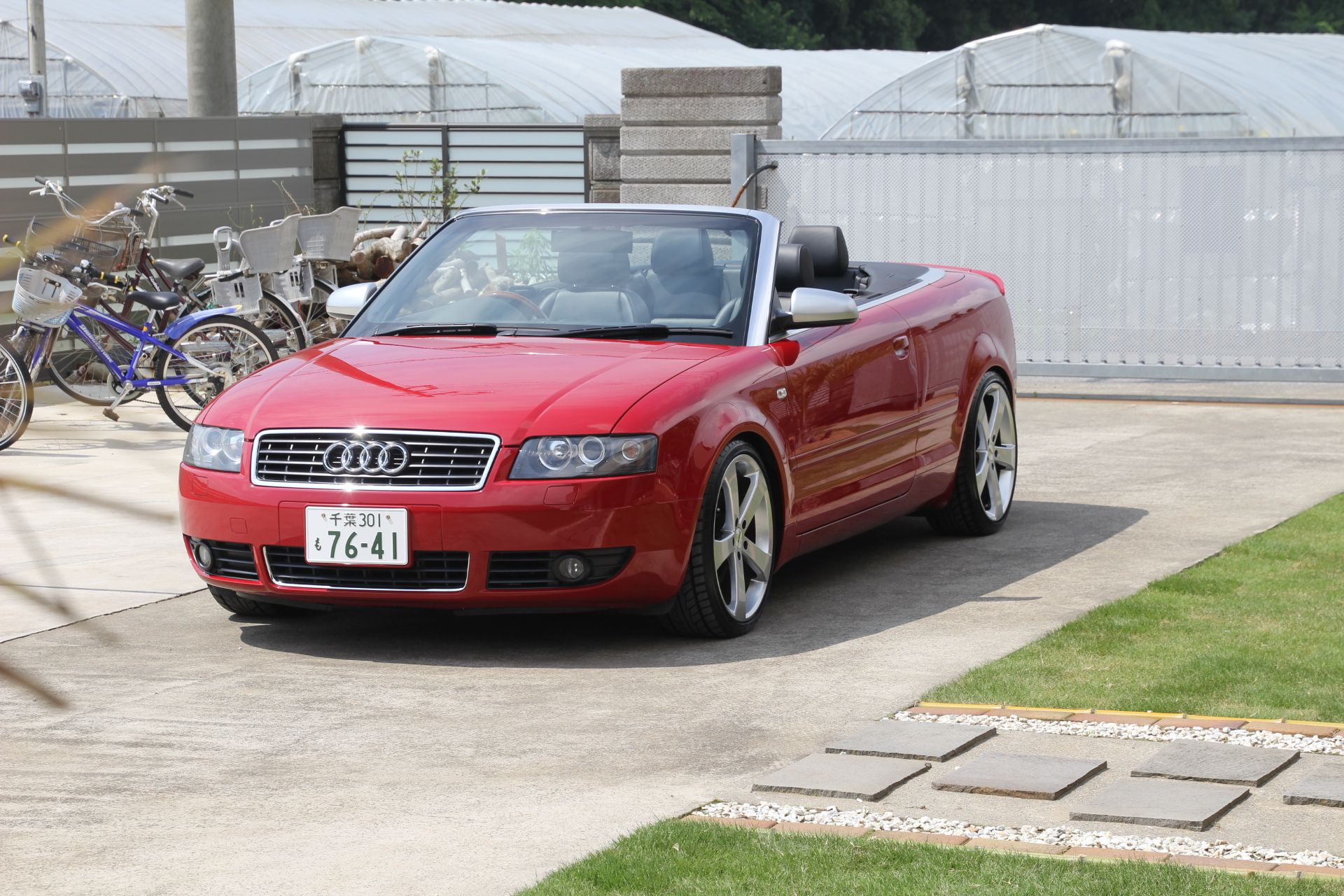 2004 audi going back to japanese used car auctions after having a smashed windscreen