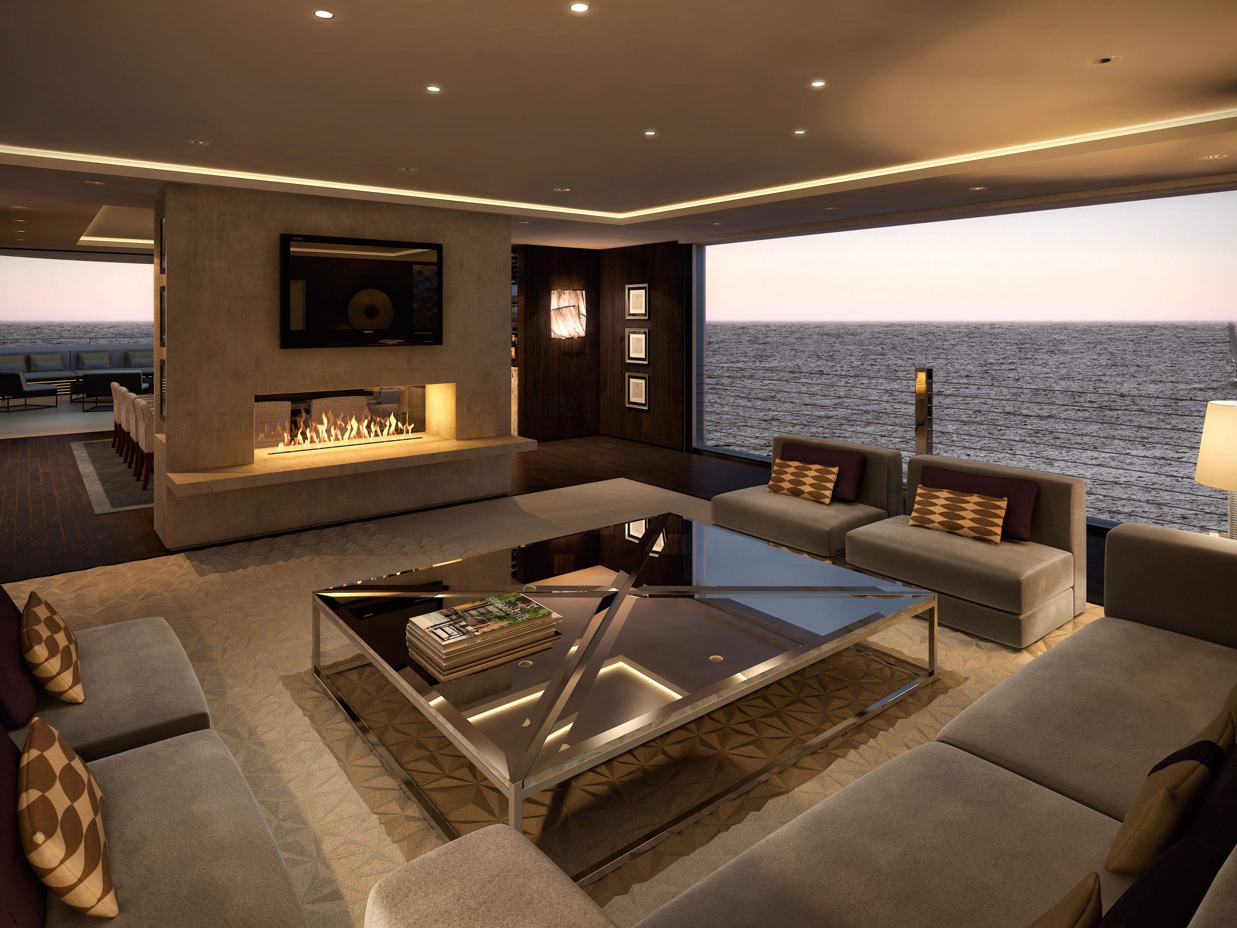 Inside Luxury Yachts Superyacht Lounge Lawson Robb Lawsonrobb