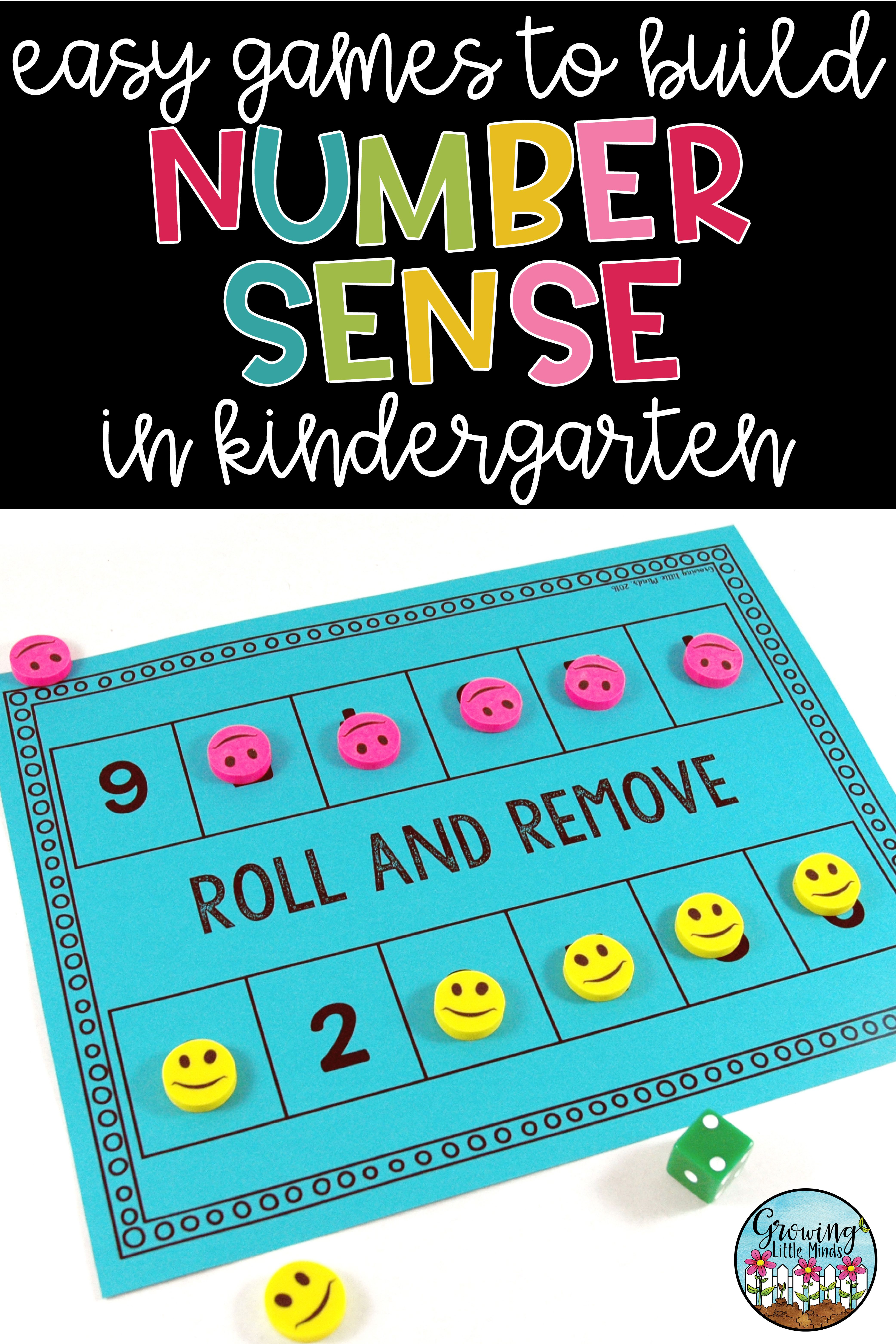 Counting And Number Sense 0 20 Games And Activities