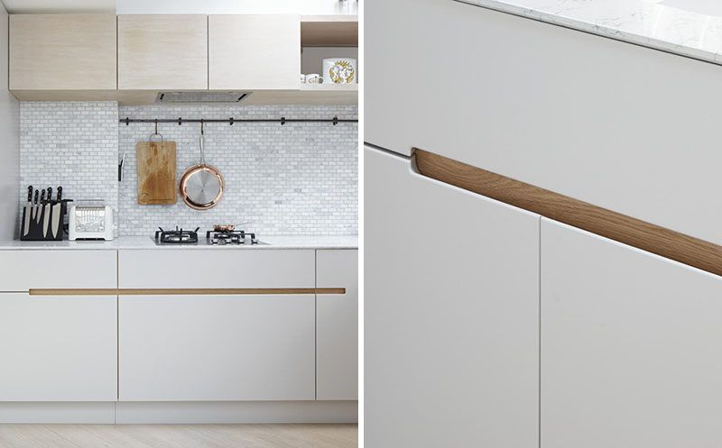 No Hardware For The Kitchen Cabinets In This London Home smart door ...