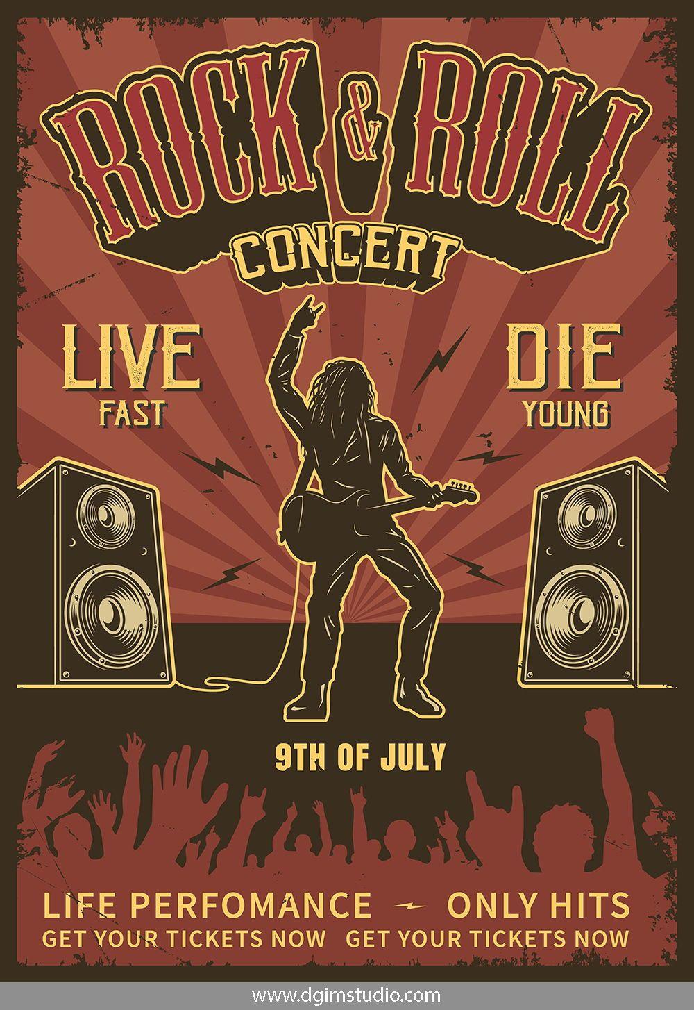 A4 A3 A2 Quality Prints VINTAGE RARE BAND ROCK Posters Concert Tour Music