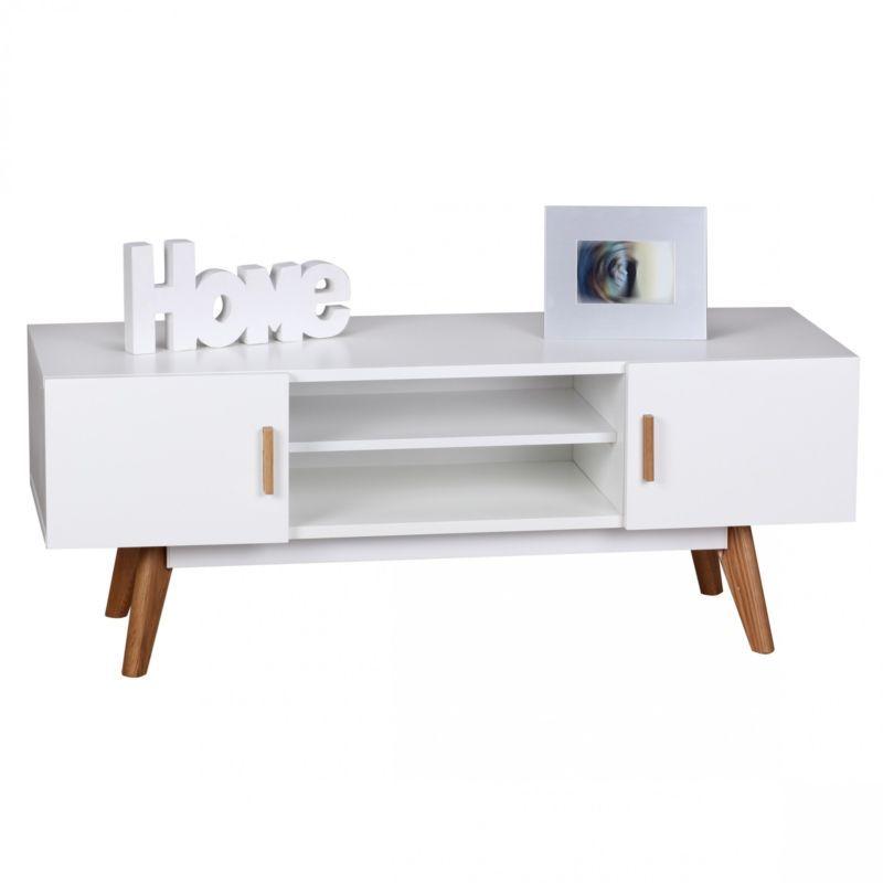 Wohnling Retro Tv Schrank Board Scanio Wl1 686 Weiss Lowboard Kommode Alvas