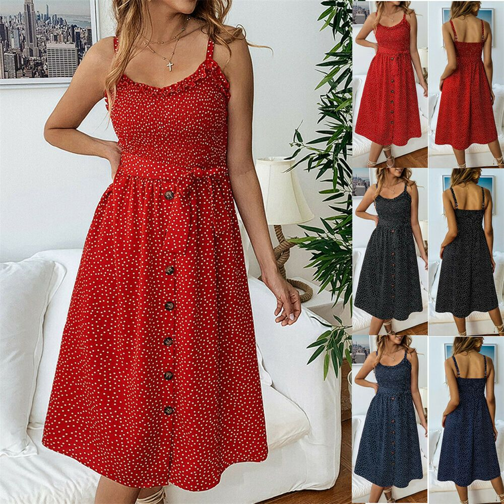 28e31f5726f US Women Boho Floral Long Maxi Dress Evening Party Beach Dresses Summer  Sundress  affilink