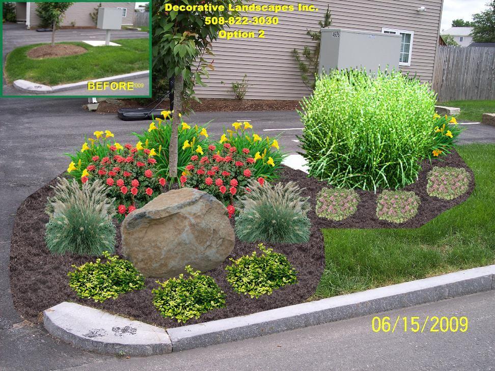 Commercial Landscape Design Ma Front Yard Landscaping Simple