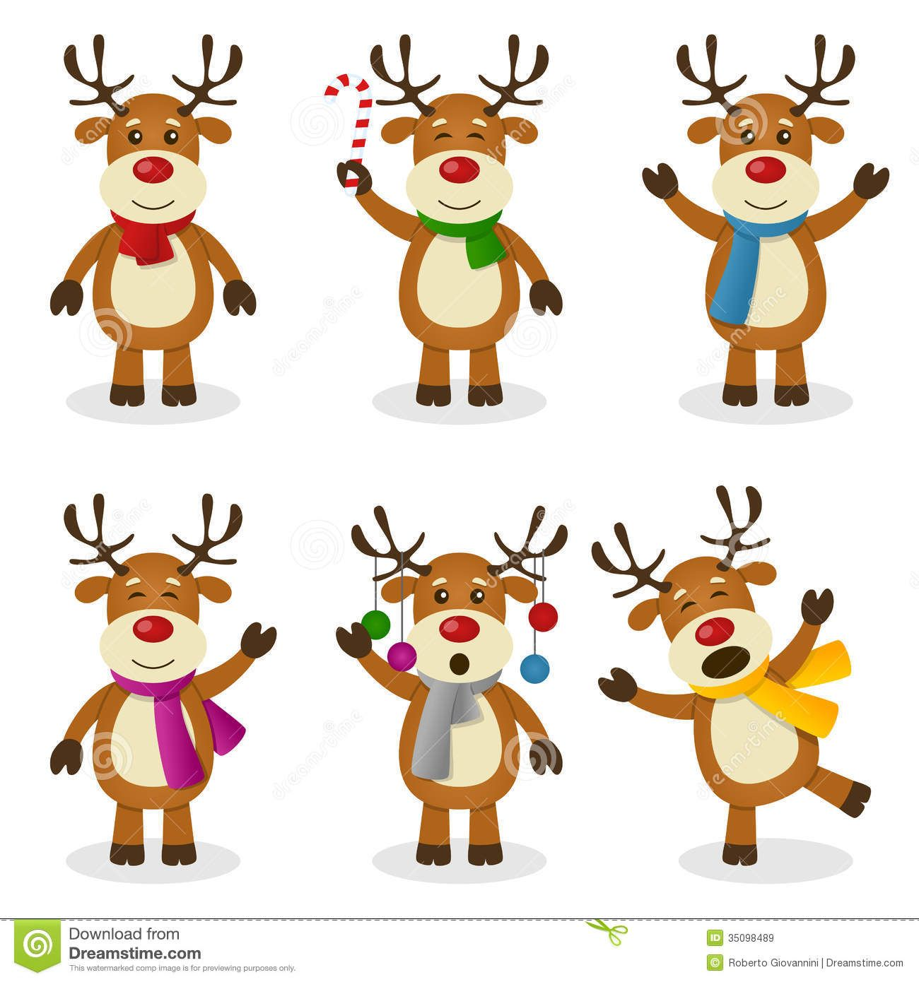 Reindeer Border Clipart Clipart Kid Christmas Characters