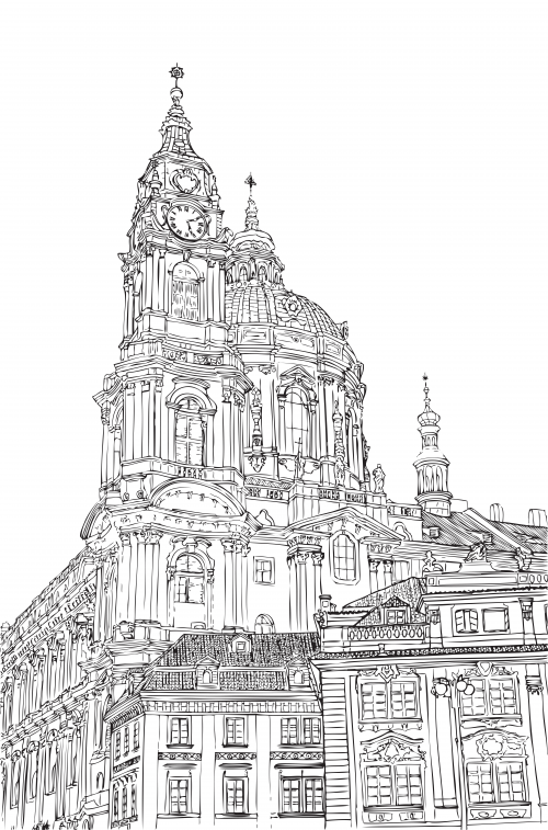 Castle Street Coloring Page Places Around Us Coloring