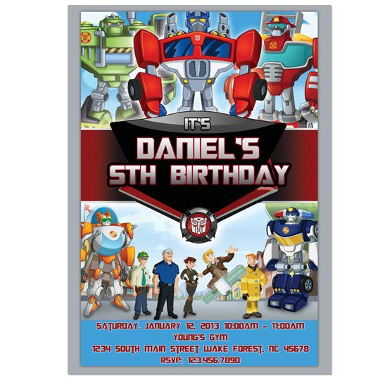 Transformers rescue bots digital birthday party invitation diy transformers rescue bots digital birthday party invitation diy print 600 via etsy filmwisefo