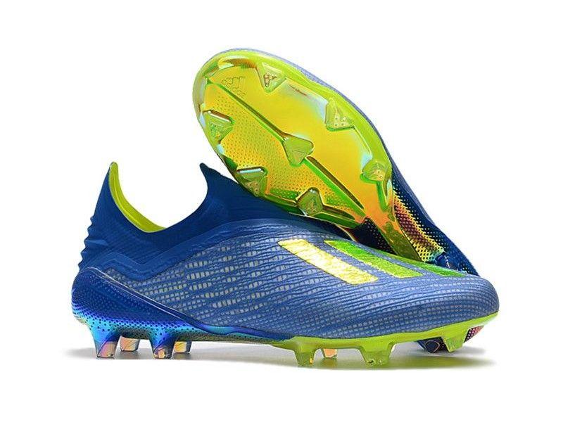 buy online 9c181 6e0c1 Botas De Futbol Adidas X 18+ FG - Azul Amarillo Negro Online https