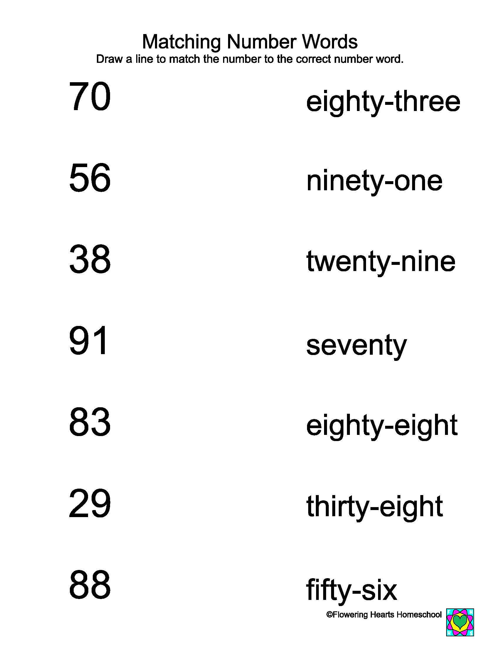 Image result for number word worksheets 2 3 math