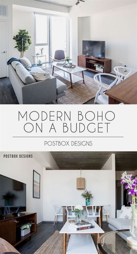 Postbox Designs Interior E Design Modern Boho Dining Room Living Makeover Reveal Online Sonder Smallroomfurniture