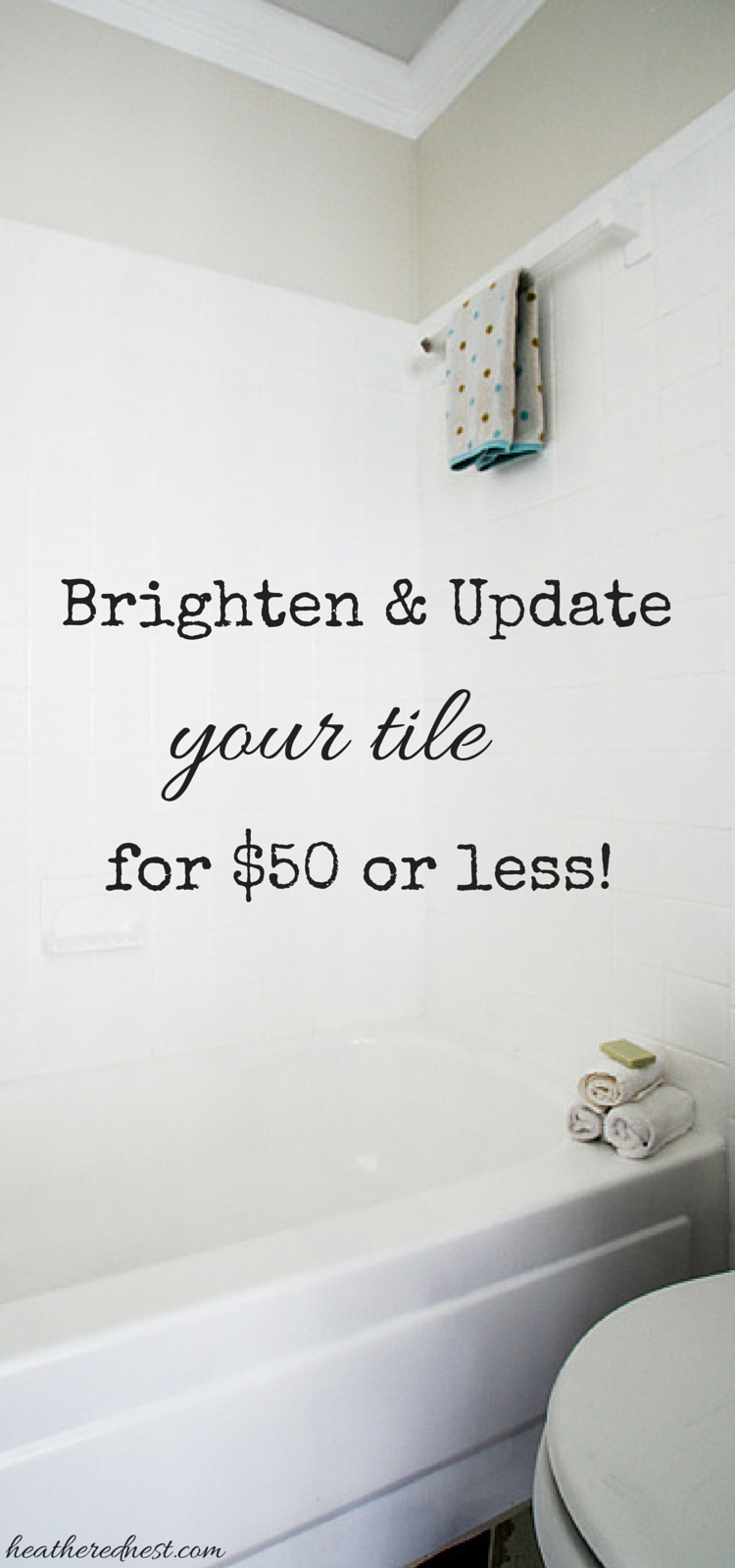 Can you Paint Tile? How we Brightened our Bathtub on a Budget ...