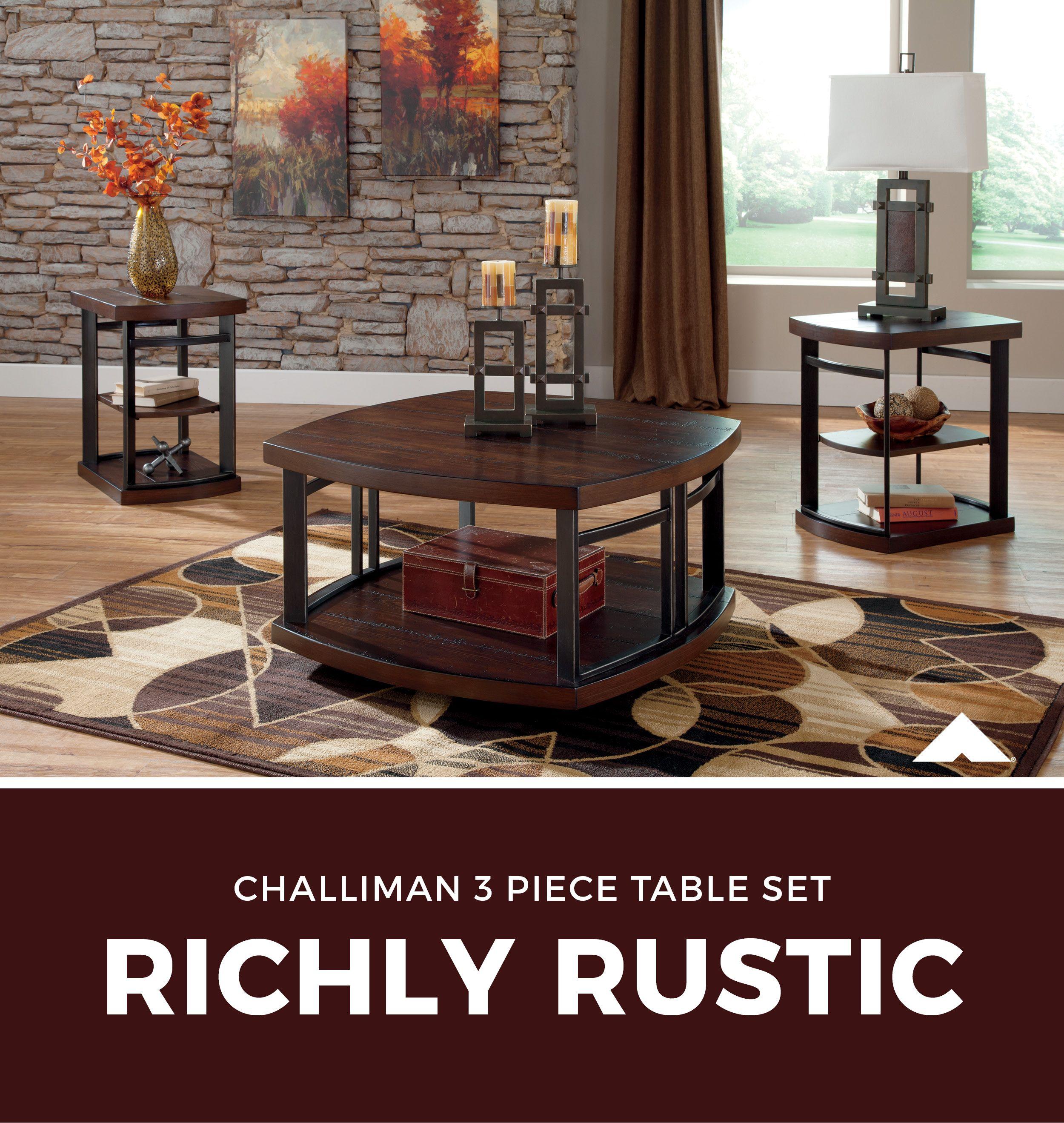 Challiman Rustic Brown Occasional Table Set By Ashley Furniture Ashleyfurniture Homedecor Livingroom Tables