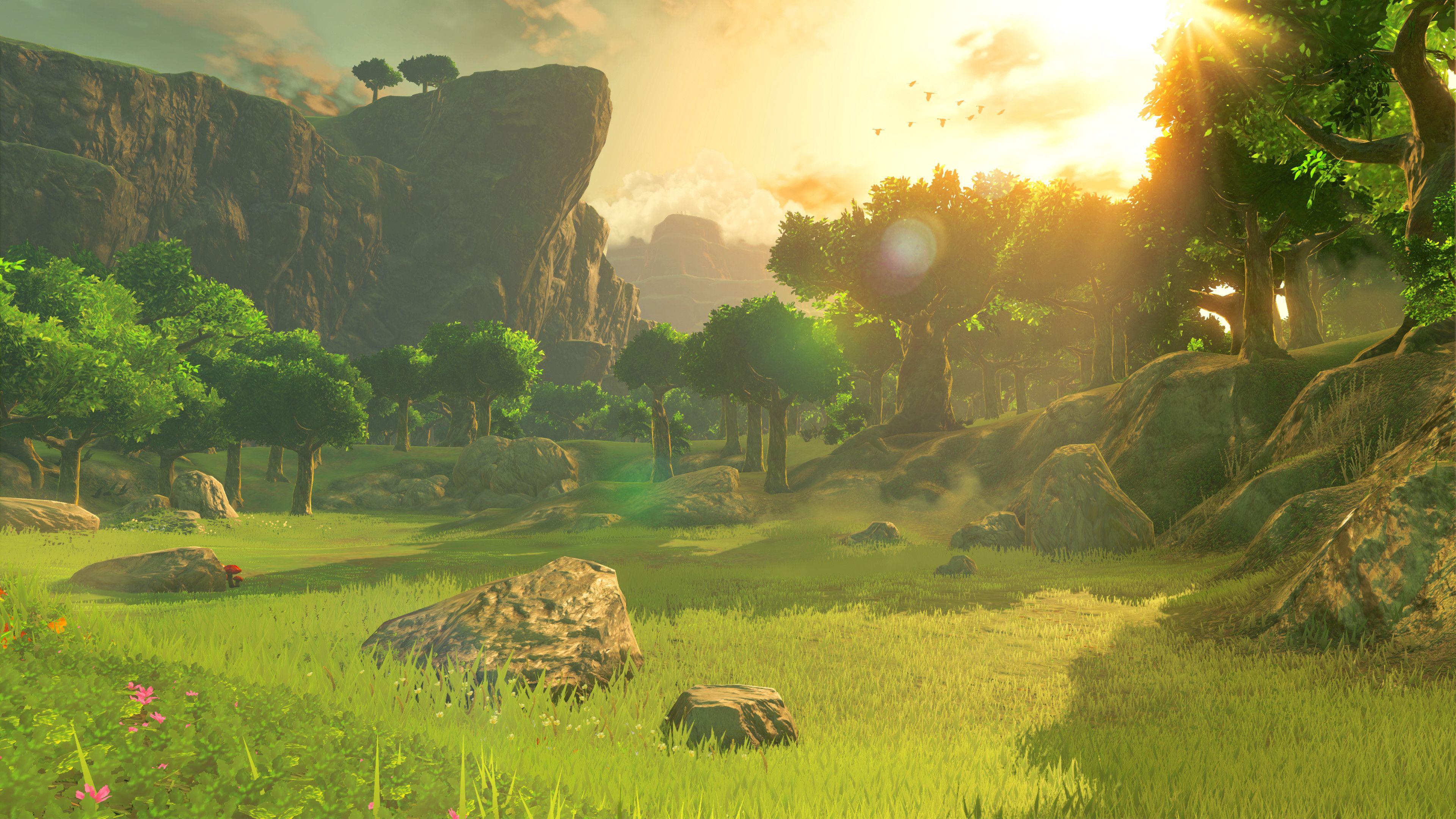 The Legend Of Zelda Breath Of The Wild Wallpaper Pack Fantasy Landscape Anime Scenery Legend Of Zelda Legend of zelda botw wallpaper hd