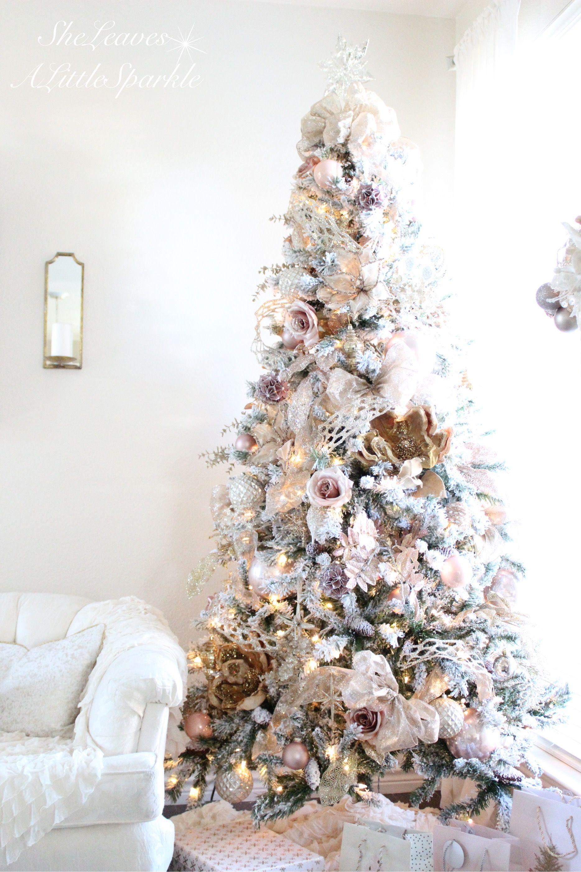 Holiday Living Christmas Tree.Holiday Living Room Tour Christmas Christmas Tree Roses