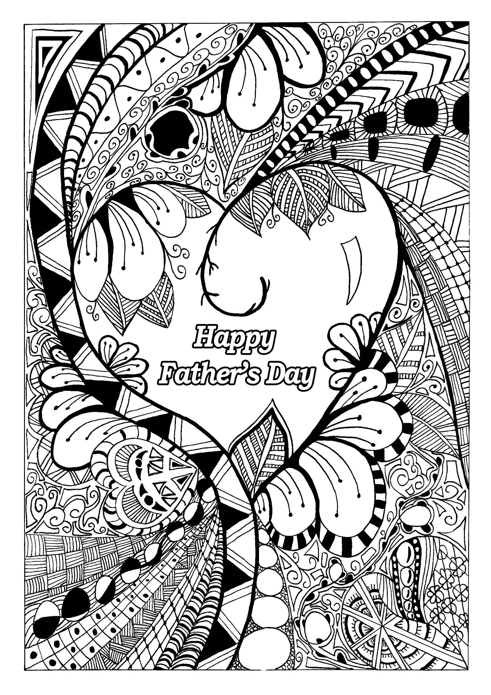 Free Happy Fathers Day Coloring Pages Pictures