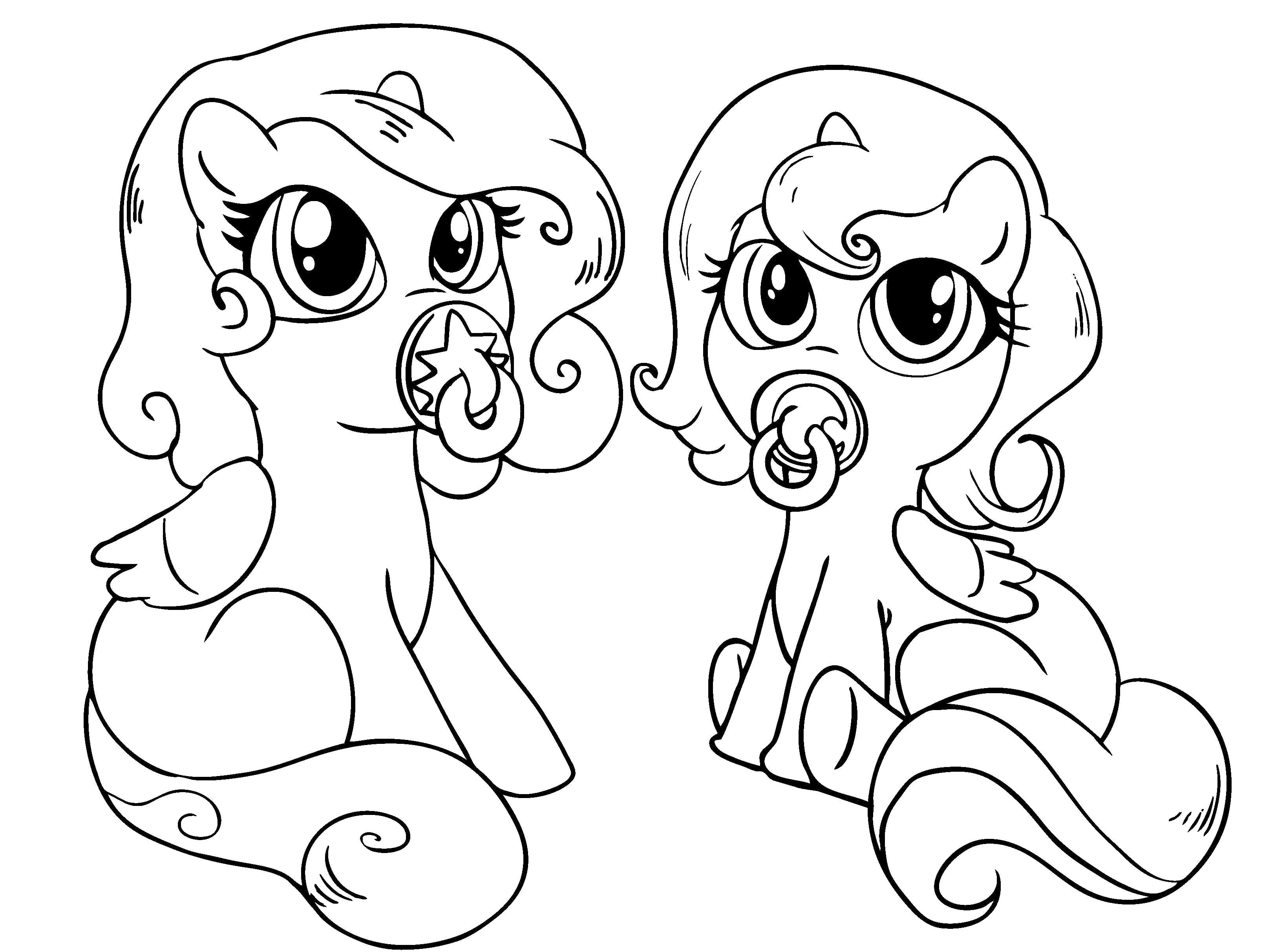 My Little Pony Fluttershy Ausmalbilder : Baby Little Pony Coloring Pages My Little Pony Car Coloring Pages