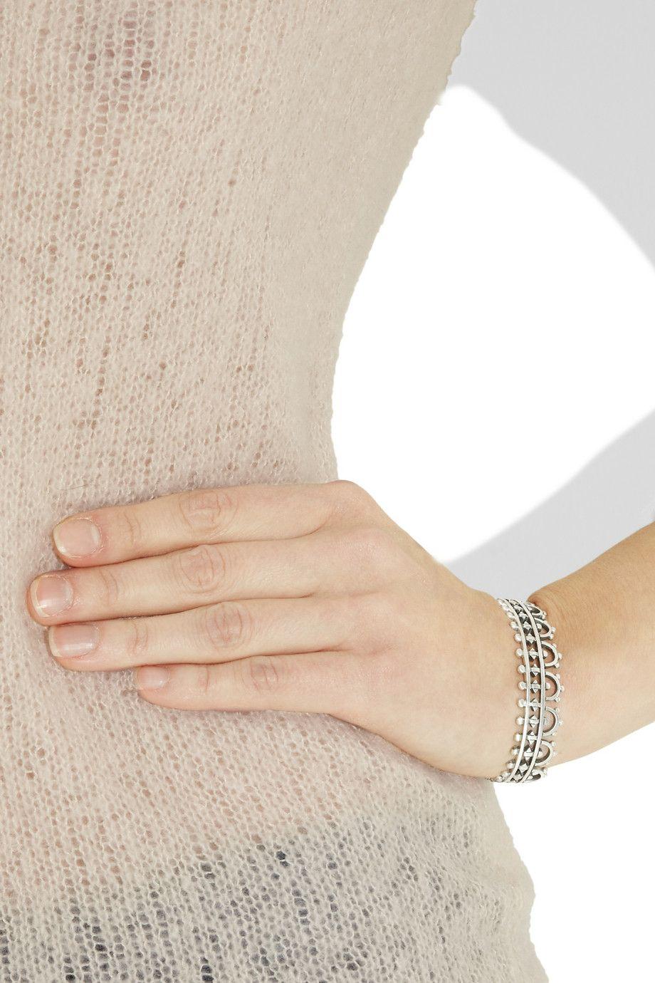 Laurent Gandinisterling silver bracelet