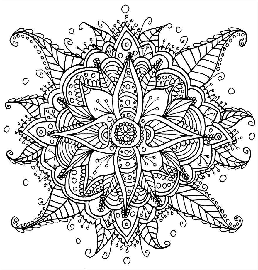 Adult coloring book page printable | COLORING | Pinterest | Mandalas ...
