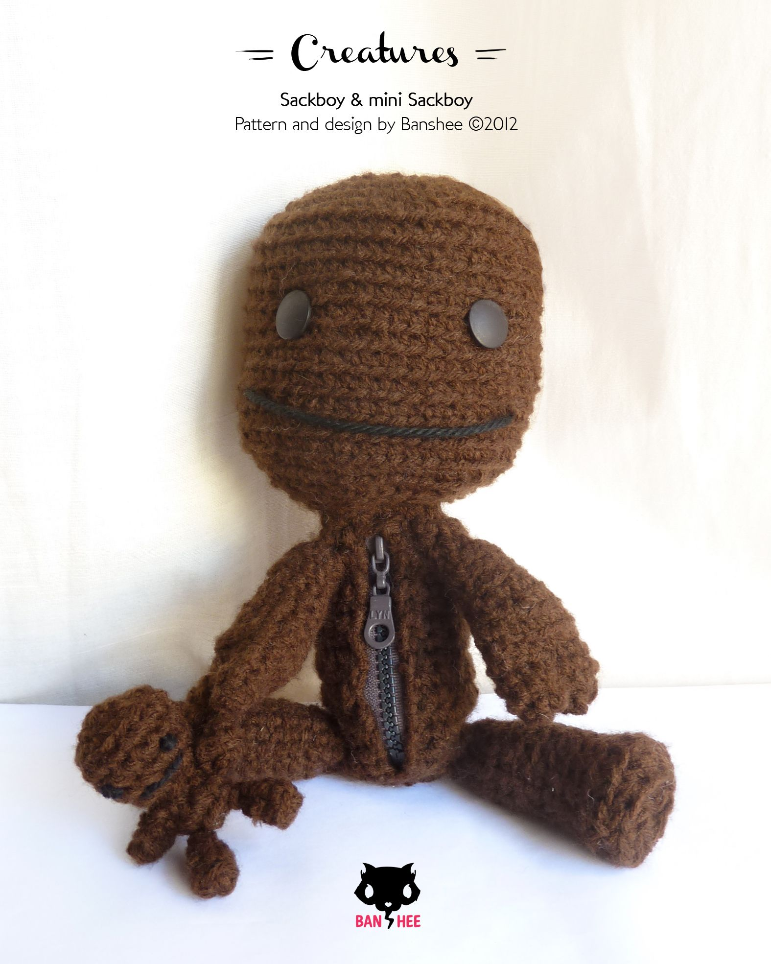 Sackboy & mini Sackboy - inspired by Little Big Planet Game ...