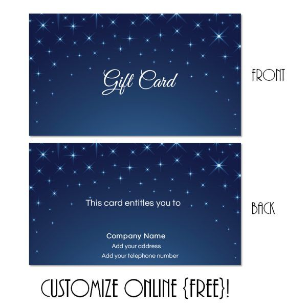 Free Printable Gift Card Templates That Can Be Customized Online - Gift certificate template add logo