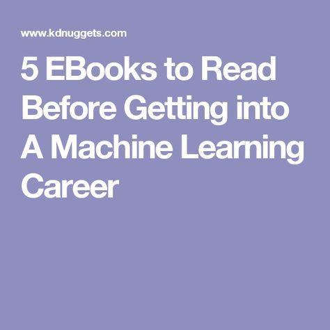 Machine Learning: Machine Learning for Beginners.<br>