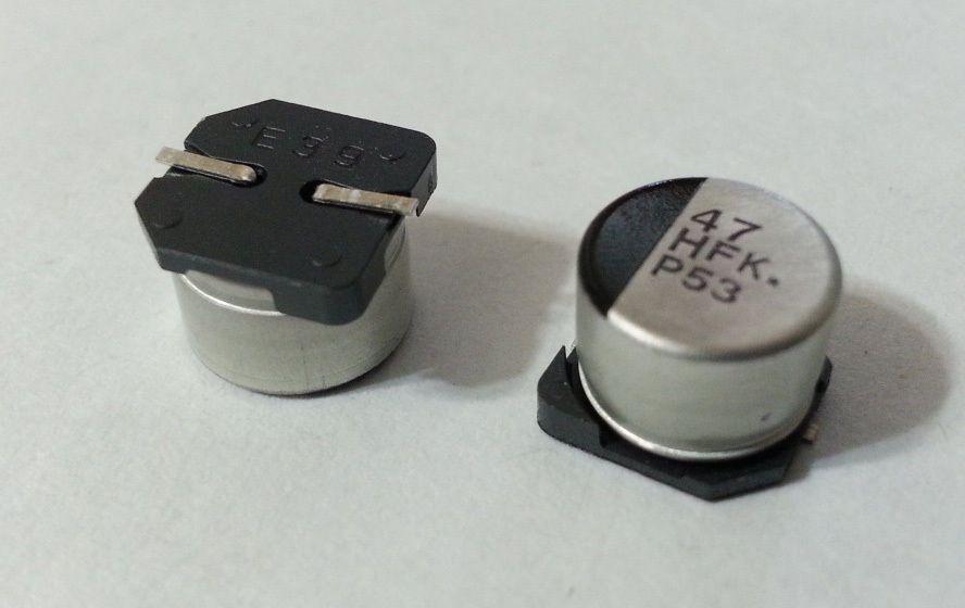 50Pcs Panasonic SMD Electrolytic Capacitor 47uF 50V EEE-FK1H470P