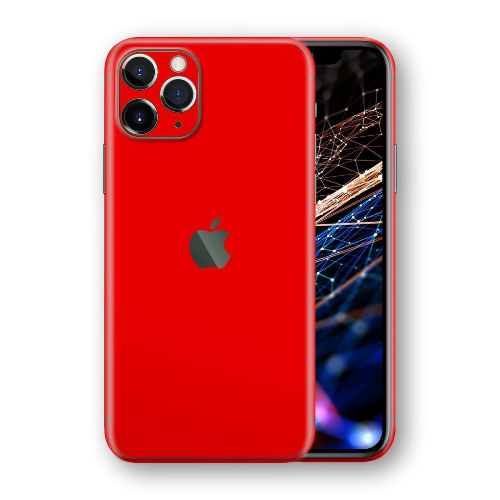 Iphone 11 Pro Glossy Bright Red Skin Iphone 11 Iphone Apple Phone Case
