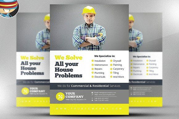 Handyman Flyer Template V By Flyerheroes On Creativemarket