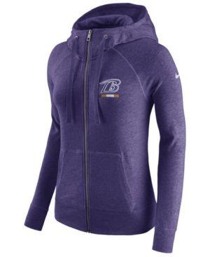 1f7f8c5174c5 Nike Women s Baltimore Ravens Gym Vintage Full-Zip Hoodie - Purple ...