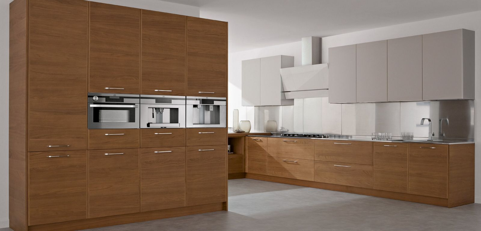 ^ simple brown color kitchen cabinet design. excellent white ...