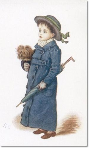 Christmas Cards - Child in Blue with Dog