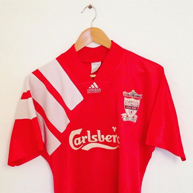 new style 4875b 5c6c3 Liverpool vintage centenary home shirt from 1992 is newly ...