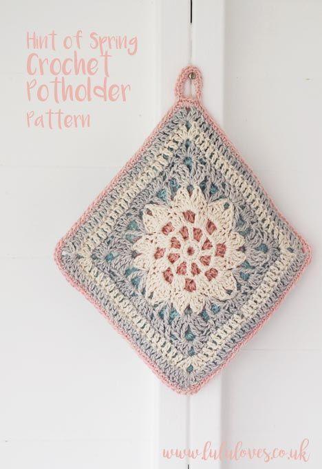 Crochet Pattern Hint Of Spring Potholder Lululoves Crochet