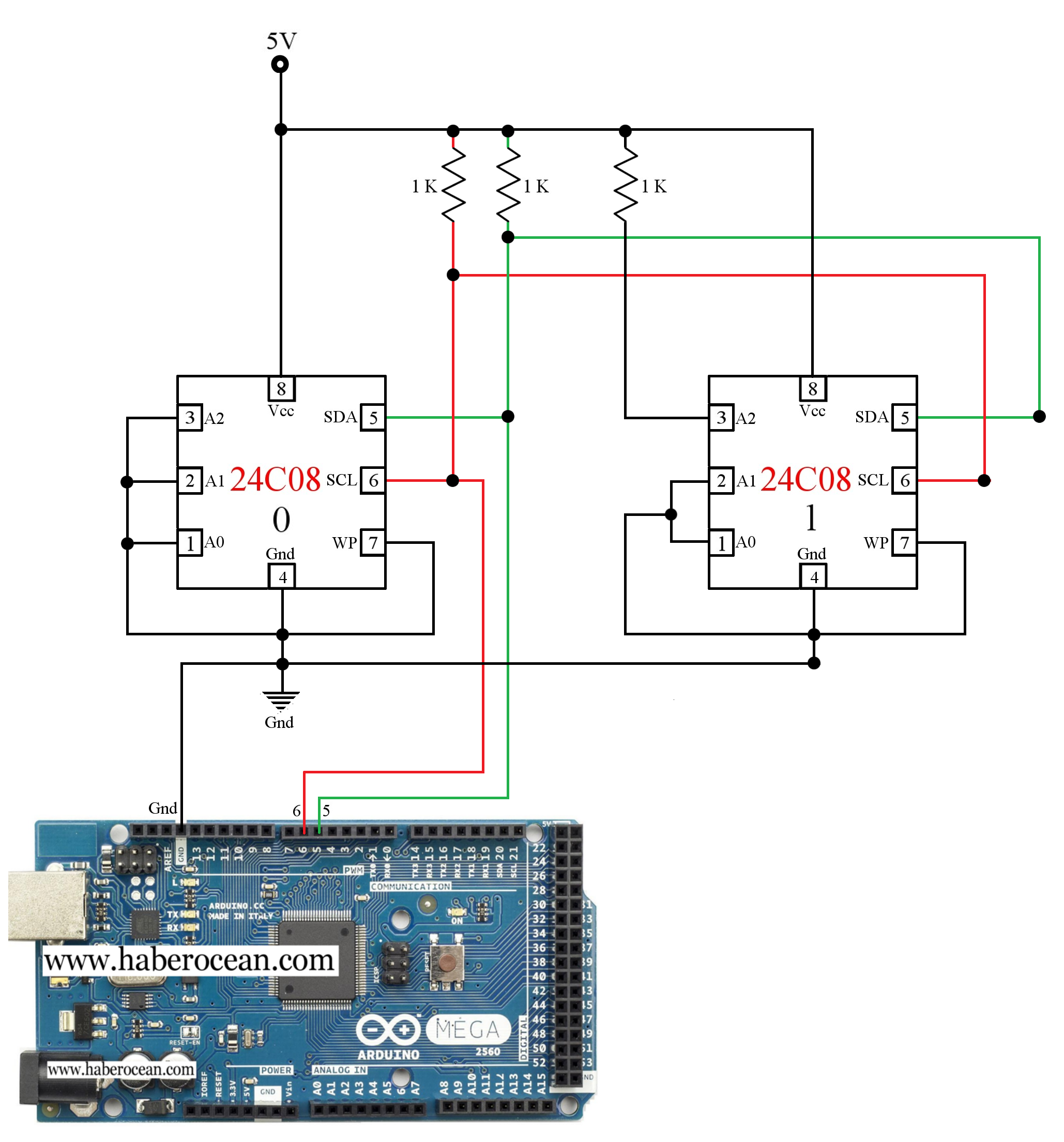Read and Write Data to Two 24C08 ICs through Single Bus System using ...